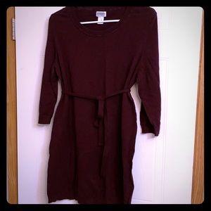 Burgundy maternity sweater